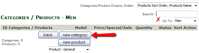 Adding a Subcategory in Zen Cart