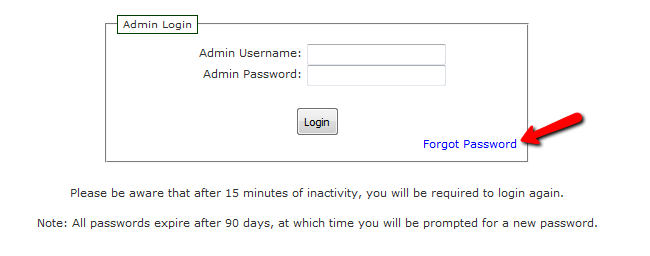 Using the Forgot Password link in Zen Cart