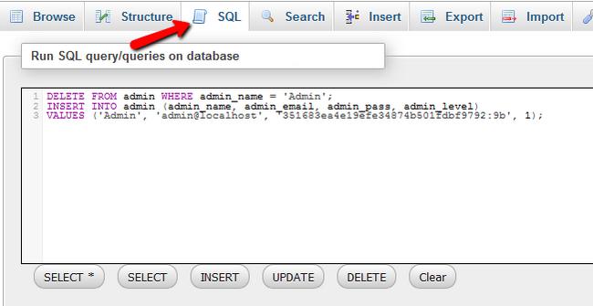 Recreating the Admin Account of Zen Cart via the Database